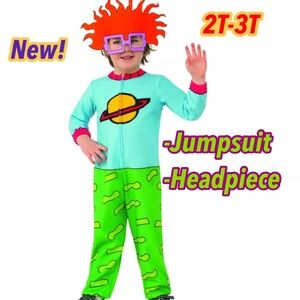 rubies costumes rugrats chuckie child costume 2t 3t new